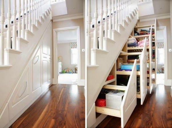 space savers under stairs