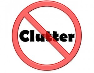 say No to clutter