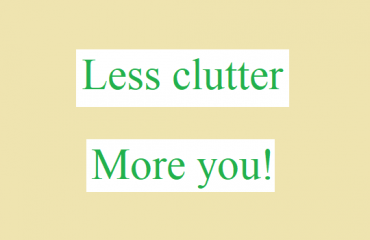 less clutter more you