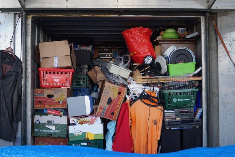 van full of rubbish