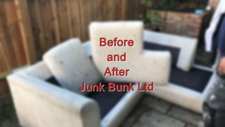 before and after junk bunk furniture disposal