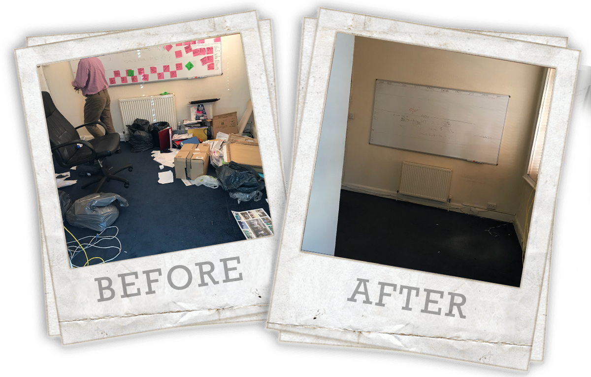 before and after office clearance Battersea SW11