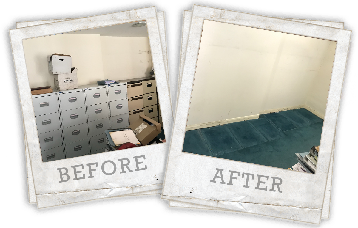 before and after office clearance